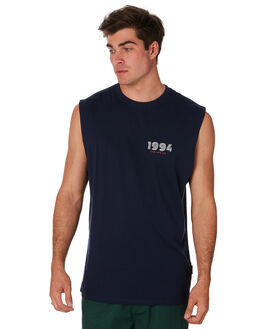 NAVY MENS CLOTHING RPM SINGLETS - 9PMT07ANVY