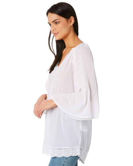 WHITE OUTLET WOMENS RUSTY FASHION TOPS - SCL0286WHT