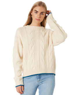 CREAM WOMENS CLOTHING ALL ABOUT EVE KNITS + CARDIGANS - 6454007CRM