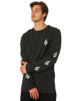 BLACK MENS CLOTHING VOLCOM TEES - A3631971BLK