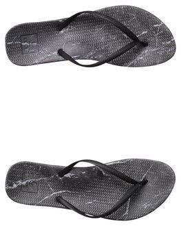 BLACK MARBLE WOMENS FOOTWEAR REEF THONGS - A2YFLBLKMR