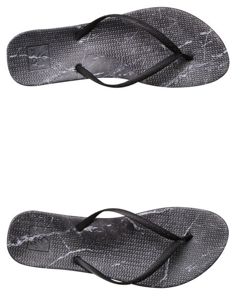 BLACK MARBLE OUTLET WOMENS REEF THONGS - A2YFLBLKMR