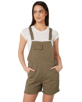 KHAKI WOMENS CLOTHING SILENT THEORY PLAYSUITS + OVERALLS - 6093123KHA