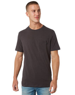 WASHED BLACK MENS CLOTHING RIP CURL TEES - CTEMW28264