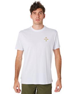 WHITE MENS CLOTHING HUFFER TEES - MTE93S40108WHT