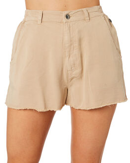 KHAKI WOMENS CLOTHING RIP CURL SHORTS - GWAEU10064