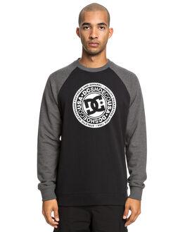 CHAR HEATHER/ BLACK MENS CLOTHING DC SHOES JUMPERS - EDYSF03198-XKKK