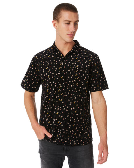 DIRTY BLACK OUTLET MENS BANKS SHIRTS - WSS0065DBL