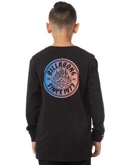 BLACK KIDS BOYS BILLABONG TEES - 8581174BLK