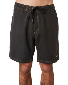 BLACK MENS CLOTHING RUSTY BOARDSHORTS - BSM1397BLK