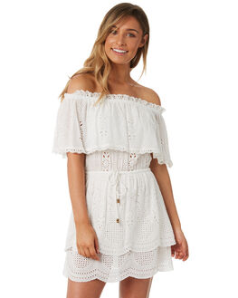 WHITE WOMENS CLOTHING TIGERLILY DRESSES - T382438WHT