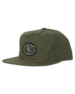 OLIVE CANVAS MENS ACCESSORIES HURLEY HEADWEAR - AH9619395