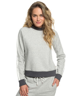HERITAGE HEATHER WOMENS CLOTHING ROXY JUMPERS - ERJFT03998-SGRH