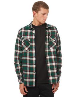 GREEN MENS CLOTHING PASS PORT SHIRTS - WORKERGRN