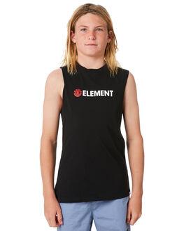 FLINT BLACK KIDS BOYS ELEMENT TOPS - 383271FBLK