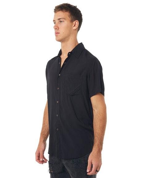 BLACK MENS CLOTHING THE PEOPLE VS SHIRTS - STSH17-BLK