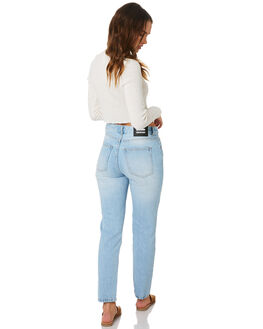 LIGHT BLUE USED WOMENS CLOTHING DR DENIM JEANS - 1730105-272