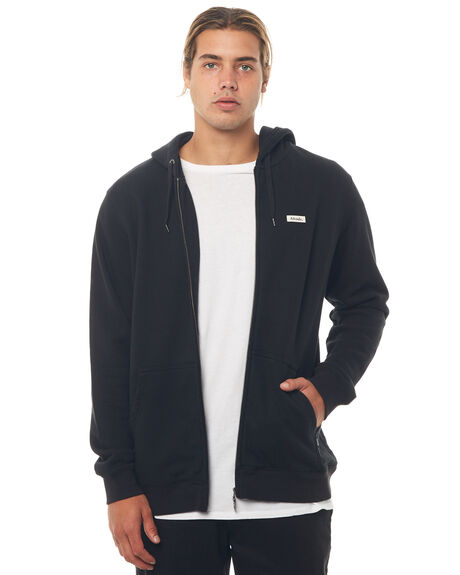 BLACK MENS CLOTHING AFENDS JUMPERS - M181511BLK