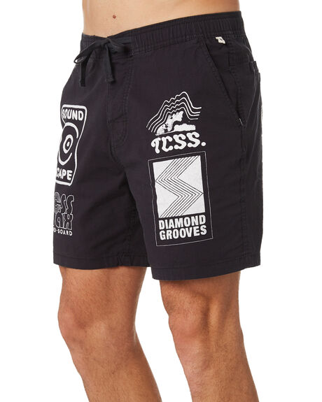 BLACK MENS CLOTHING THE CRITICAL SLIDE SOCIETY BOARDSHORTS - BS1872BLK