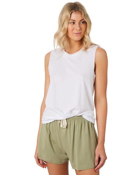 WHITE WOMENS CLOTHING AS COLOUR SINGLETS - 4043WHITE