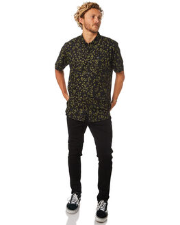 BLACK MENS CLOTHING RVCA SHIRTS - R182185BLK