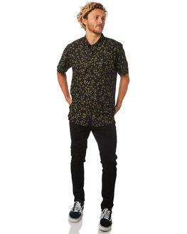 BLACK MENS CLOTHING RVCA SHIRTS - R182185BLK