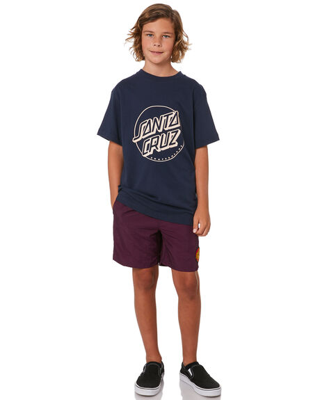 GRAPE KIDS BOYS SANTA CRUZ BOARDSHORTS - SC-YBC6010GRAPE