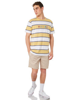 MUSTARD STRIPE MENS CLOTHING BARNEY COOLS TEES - 133-CR4MUSTD