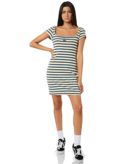 MULTI COLOURED WOMENS CLOTHING STUSSY DRESSES - ST195508STRIPE