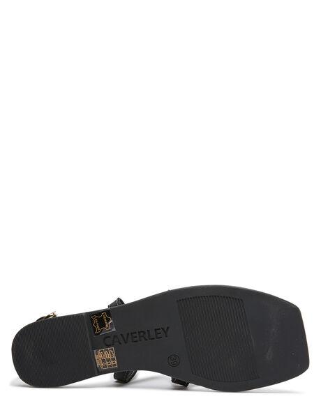 BLACK WOMENS FOOTWEAR CAVERLEY FASHION SANDALS - 202S124SBLK