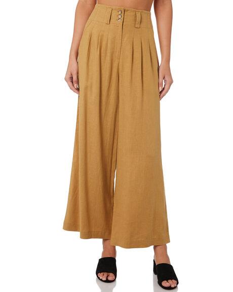 GOLDEN YELLOW WOMENS CLOTHING THRILLS PANTS - WTW9-401KGOL