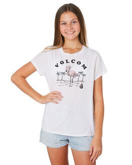 WHITE COMBO KIDS GIRLS VOLCOM TOPS - B35119Y4WTC