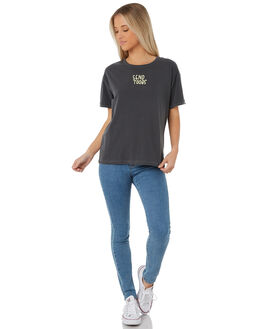 ANTHRACITE WOMENS CLOTHING HURLEY TEES - AQ4536-060
