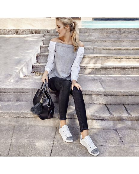 WHITE WOMENS FOOTWEAR HOLSTER SNEAKERS - HS97W5