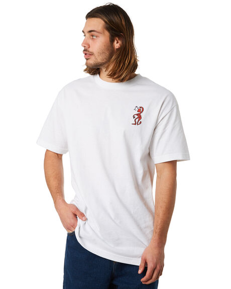 WHITE OUTLET MENS PASS PORT TEES - DAYWWHT