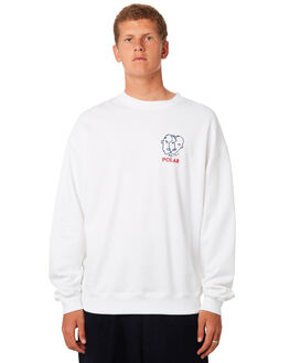 WHITE MENS CLOTHING POLAR SKATE CO. JUMPERS - PSCTWOSIDEWHT