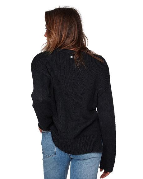 BLACK WOMENS CLOTHING BILLABONG HOODIES + SWEATS - BB-6508791-BLK