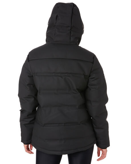 BLACK WOMENS CLOTHING HUFFER JACKETS - WDJA02S1301BLK