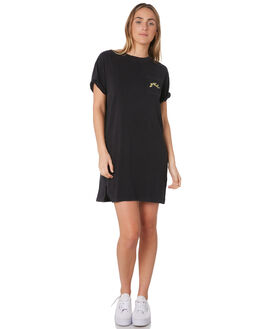 BLACK WOMENS CLOTHING RUSTY DRESSES - DRL0990BLK