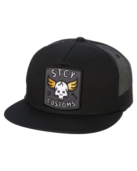 BLACK MENS ACCESSORIES STACEY HEADWEAR - STHEWINGBLK