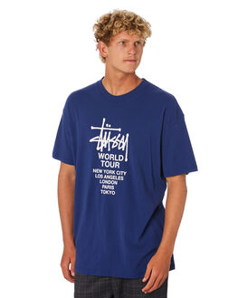 NEW NAVY MENS CLOTHING STUSSY TEES - ST006000NWNVY
