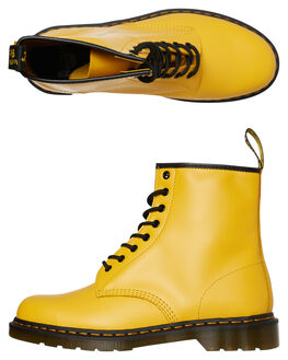 YELLOW SMOOTH WOMENS FOOTWEAR DR. MARTENS BOOTS - SS24614700YELSMW