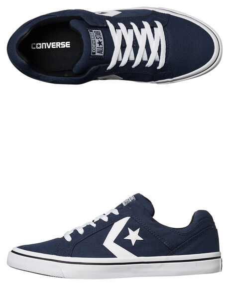 NAVY WHITE MENS FOOTWEAR CONVERSE SKATE SHOES - 155065NVY
