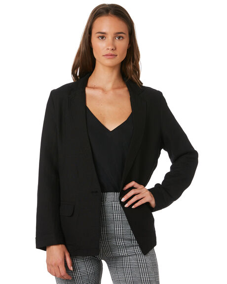 BLACK WOMENS CLOTHING ALL ABOUT EVE JACKETS - 6433026BLK