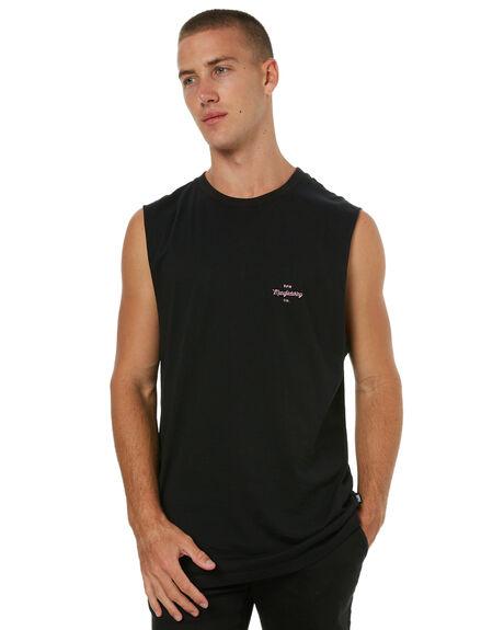 BLACK MENS CLOTHING RPM SINGLETS - 7HMT05ABLK