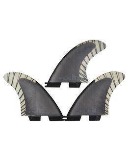 BLACK CHARCOAL BOARDSPORTS SURF FCS FINS - FREA-CC03-TS-RBLKCH
