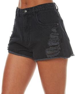 ACES BLACK WOMENS CLOTHING RUSTY SHORTS - WKL0586ACB