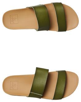 OLIVE WOMENS FOOTWEAR REEF SLIDES - A30KSOLI