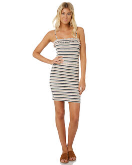 PINK BLUE WOMENS CLOTHING MINKPINK DRESSES - MB1806051STRIPE