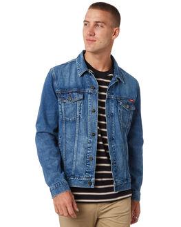 WORN INDIGO MENS CLOTHING WRANGLER JACKETS - 901509AT9